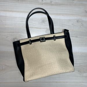 Kate Spade Demarco Houston Large Straw Leather Bag